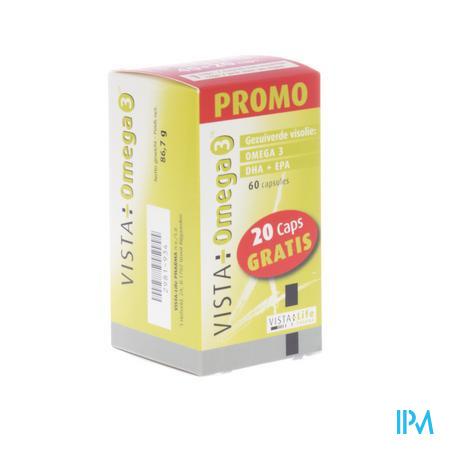 Vista Omega 3 Promo 40+20 Softgels Gratis