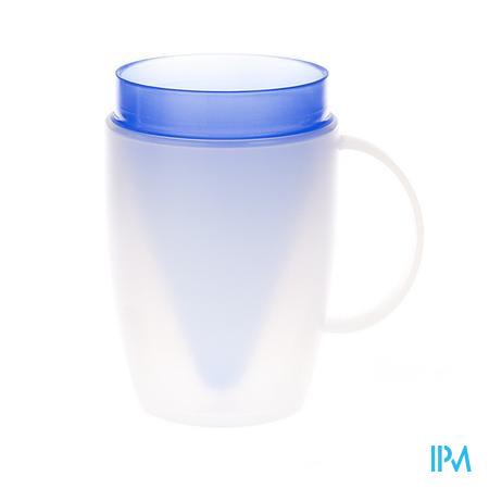 Advys Gobelet Isolant Forme D'entonnoir + Poignée Bleu 180 ml 1 pièce