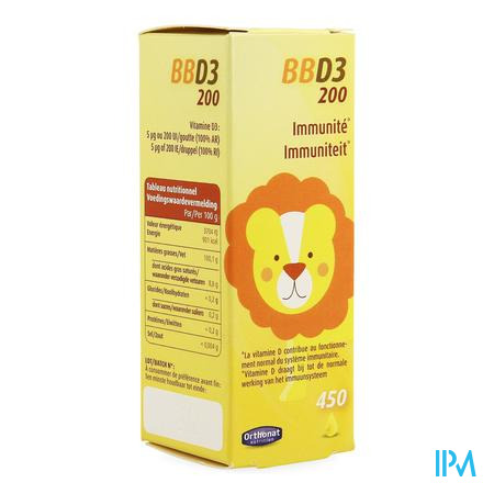 Bb D3 200 Ui Gutt 20ml Orthonat
