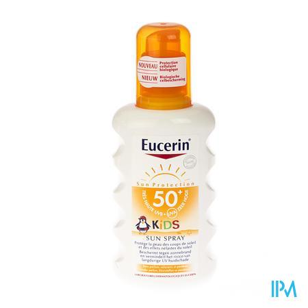 Afbeelding Eucerin Sun Kids Zonnespray voor Kinderen met SPF 50+ zonder Parfum 200 ml.