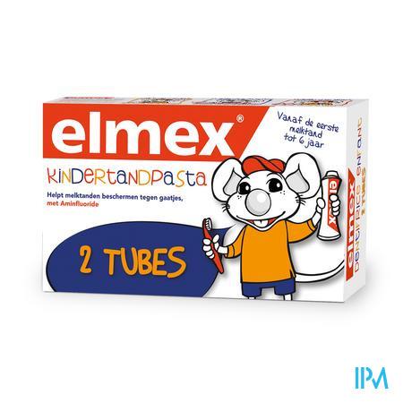 Afbeelding Elmex Kindertandpasta vanaf de Eerste Melktand tot 6 Jaar Promo Duopack 2 x 50 ml.