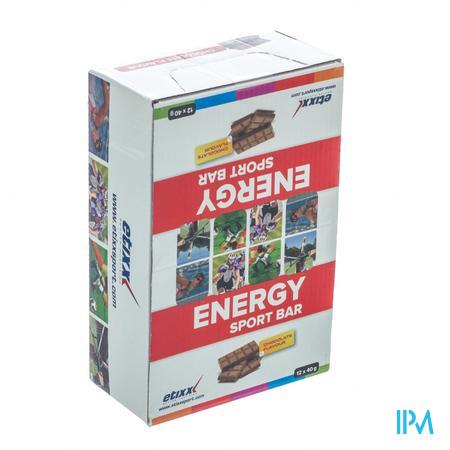 Afbeelding Etixx Energy Sport Bar met Chocoladesmaak en Magnesium 12 x 40 g.