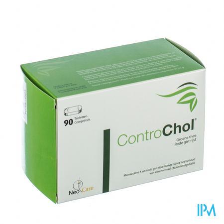 Afbeelding ControChol met Groene Thee en Rode Gist Rijst voor Bijdrage tot Behoud van een Normaal Cholesterolgehalte 90 Tabletten .