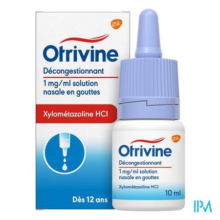 Otrivine Hydrat 1 0/00 Gouttes 10 ml