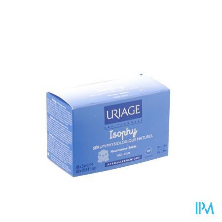 Uriage Isophy Physiologique Sérum Naturel 18x5 ml unidosis
