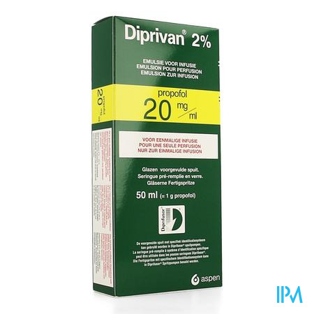 DIPRIVAN 2% INJ 1000 MG/50 ML