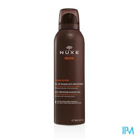 Afbeelding Nuxe Men Irritatiewerende Scheergel met Baobabextract voor Elk Huidtype, zelfs de Gevoelige Huid 150 ml.