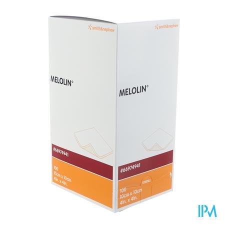 Melolin Steriel Kompress 10 x 10Cm 100 stuks