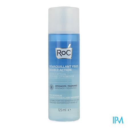 Roc Double Action Eye Make-up Remover Fl 125ml
