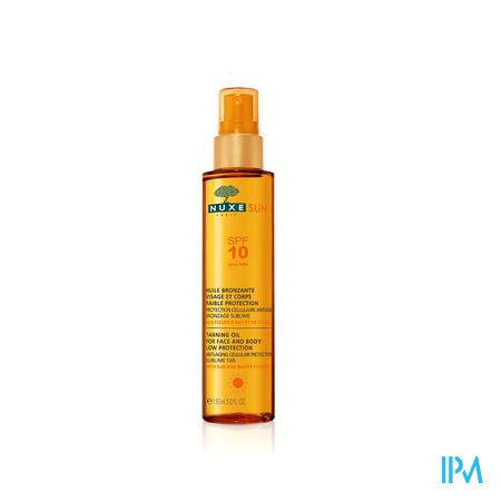 Nuxe Sun Bruiningsolie Gelaat-lich.ip10 P.fl 150ml