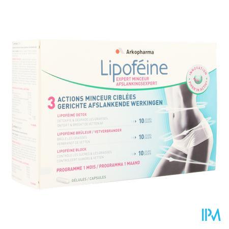 Afbeelding Lipofeine Afslankingsexpert met 3 Gerichte Afslankende Werkingen Programma voor 1 maand Capsules.
