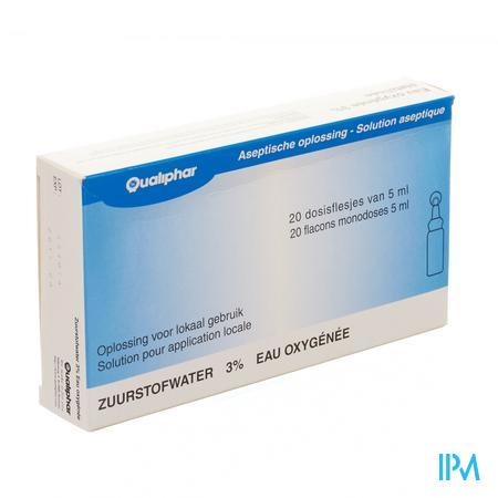 Eau Oxygenee Stabilisee 3% Unit Dose 20x5 ml