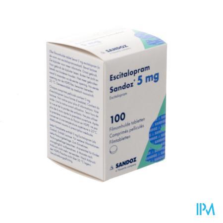 Escitalopram Sandoz 5mg Pot Comp Pell 100