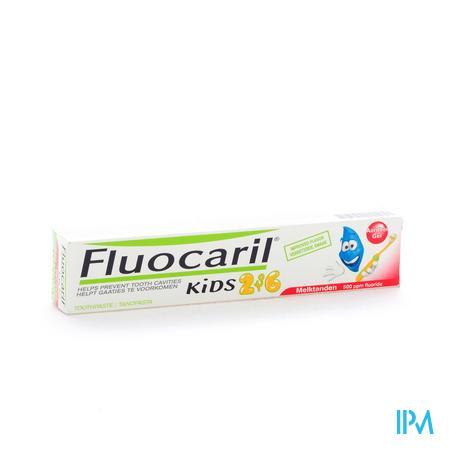 Fluocaril TandGel Kinderen Aardbei 2 - 6 jaar 50 ml