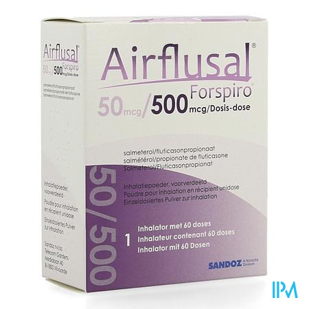 Airflusal Forspiro 50mcg/500mcg Pdr Inh. 1x60 Dose