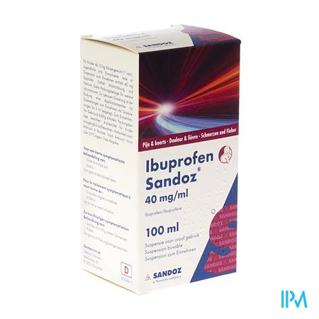 IBUPROFEN SANDOZ 200 MG/5 ML X 100 ML OR SUSP 4%