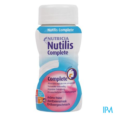 Nutilis Complete Stage 1 Fraise Fl 4x125ml