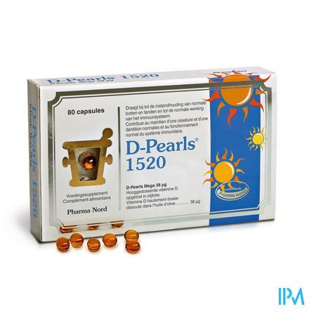 Afbeelding Bio D Pearls 1520 Eenheden 80 Capsules.