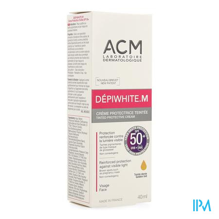 Depiwhite M Creme Bescherm.getint Spf50+ Tube 40ml