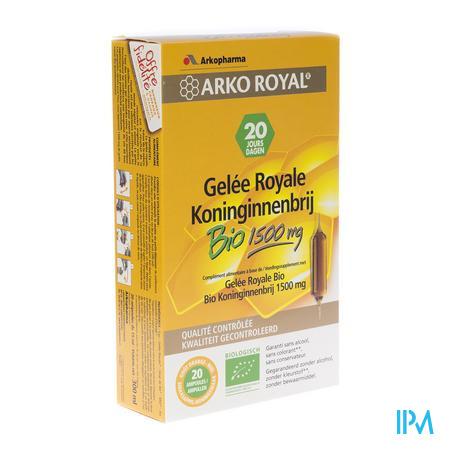 Arko Royal Gelee Royale Bio 1500mg 20 x 15 ml ampoules