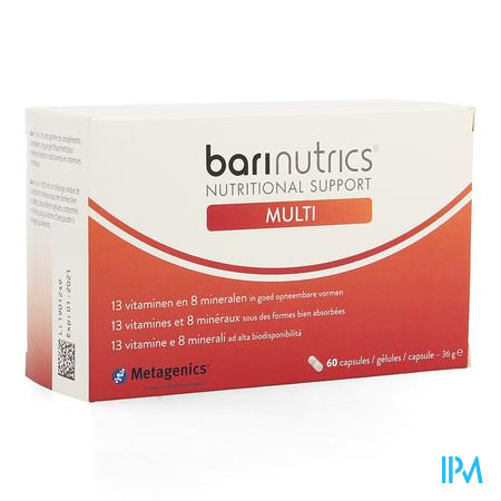 Barinutrics Multi Caps 60 25425 Metagenics