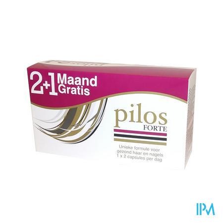 Afbeelding Pilos Forte Tripack 3 x 60 Capsules voor Gezond Haar en Nagels met Gratis Pilos Shampoo .