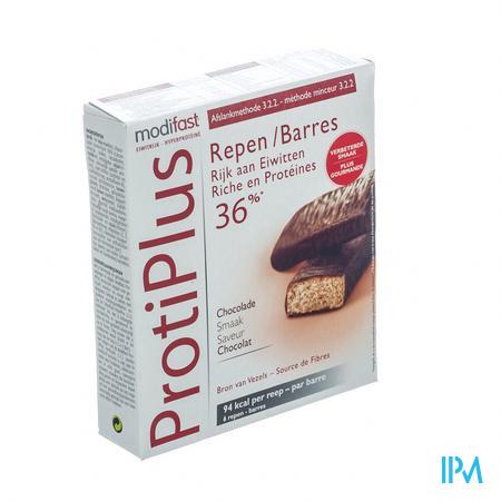 Modifast Protiplus Barre Chocolate Noir 6 x 27 g