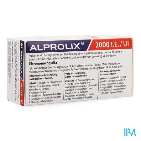 Alprolix 2000ie Pdr+solv Opl Inj 1 Fl + Ser Pr.5ml