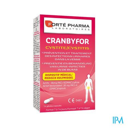 Forté Pharma Cranbyfor Cystitis 14 capsules
