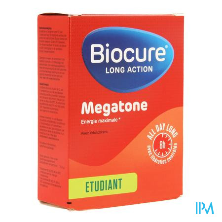 Afbeelding Biocure Long Action Megatone Student 30 Tabletten.
