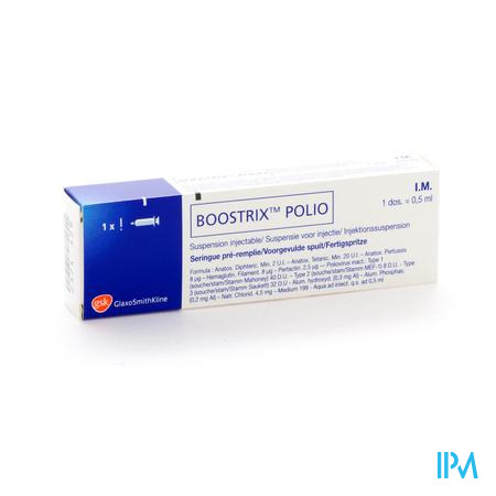 Boostrix Polio Voorgev.spuit 1 X 0,5ml