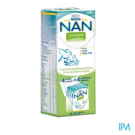 Afbeelding Nan Complete Comfort van 0-12 maanden Zakjes 4 x 26 g.