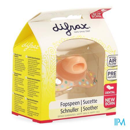 Difrax Sucette Newborn Dental Sil -2/2m 1 796  -  Difrax
