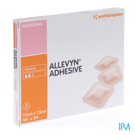 Allevyn Adhesive 7.5cm x 7.5cm 3 pièces