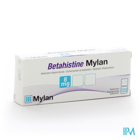 Betahistine Mylan 8mg Comp 100 X 8mg