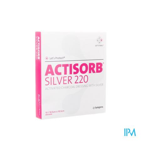 Actisorb Silver 220 10.5cm x 10.5cm 10 stuks