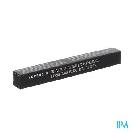 Afbeelding Korres Black Volcanic Minerals Long Lasting Eyeliner n°01 Black 1,2 g.