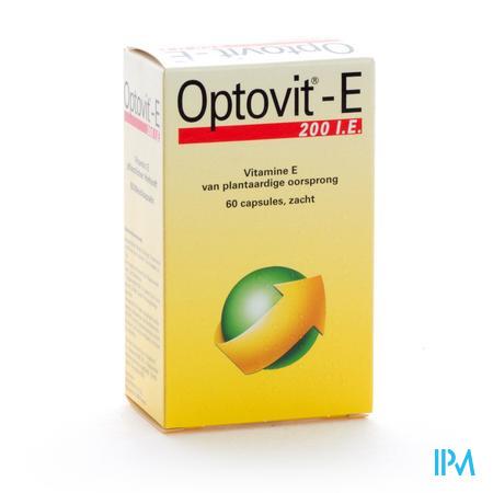 Afbeelding Optovit-E 200 IE Vitamine E van Plantaardige Oorsprong 60 Zachte Capsules.
