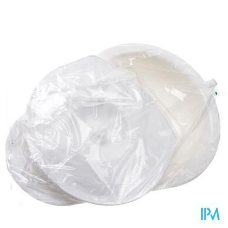 Miflex Bedpan + Deksel Plast Wit