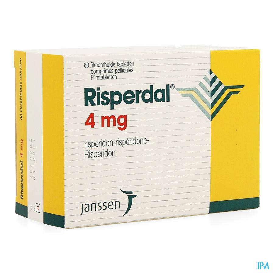 Risperdal Comp Pell 60 X 4mg