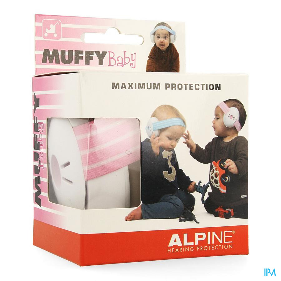 Alpine Muffy Casque Auditif Baby Pink