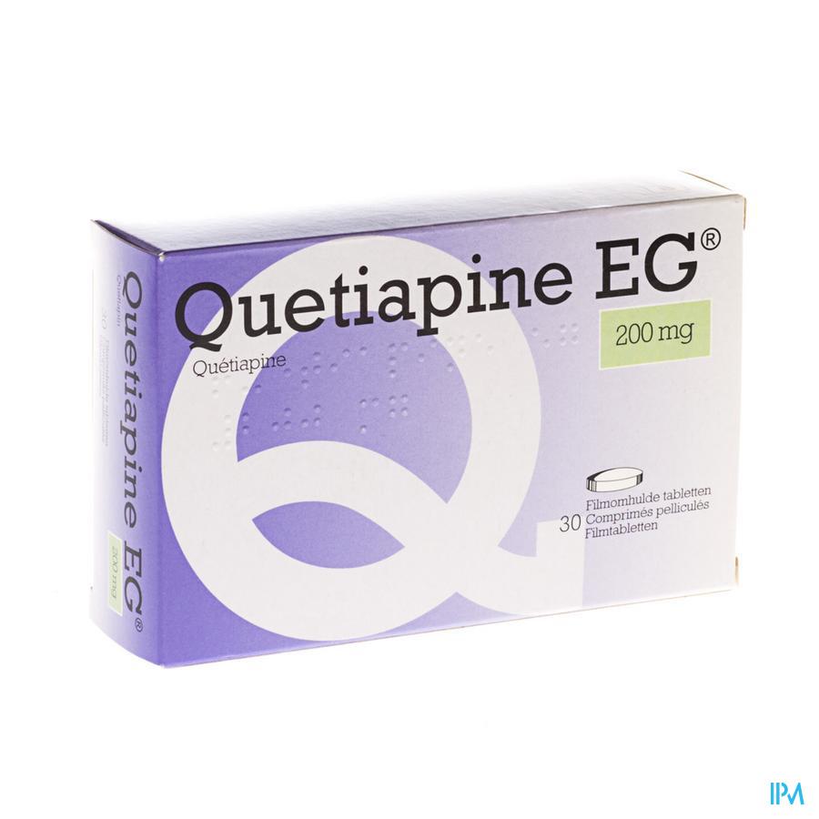 Quetiapine Eg Comp Pell 30 X 200mg