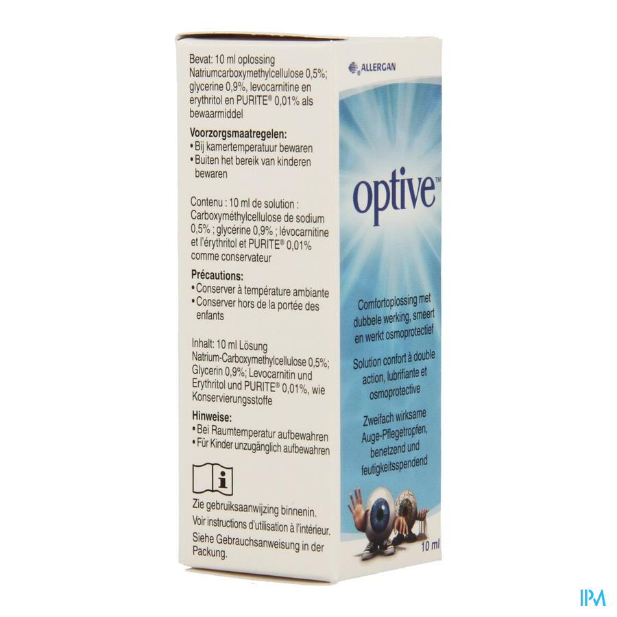 Optive Solution Confort Double Action Ster 10ml