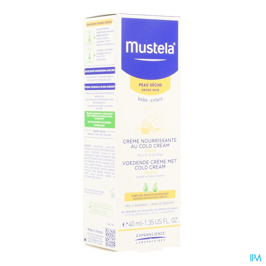 Mustela Ps Creme Nourrissant Cold Cream 40ml