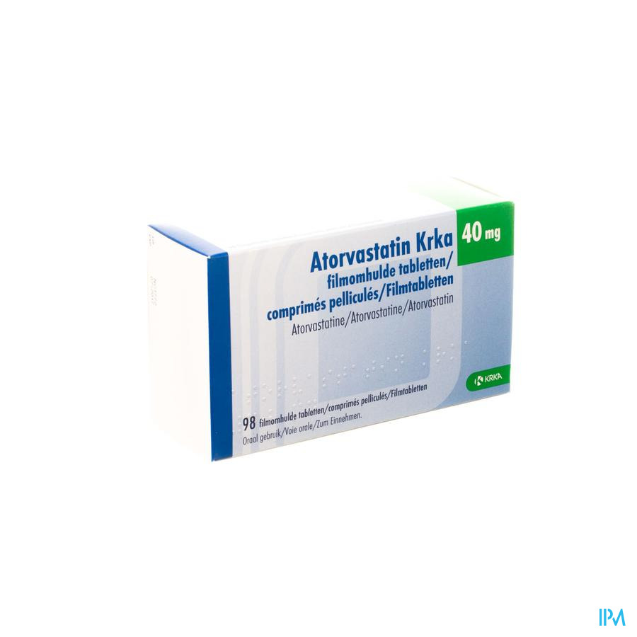 Atorvastatin Krka 40 mg Filmomhulde Tabletten 98
