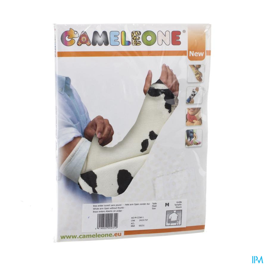 Cameleone Volledige Arm Open -duim Koe M 1