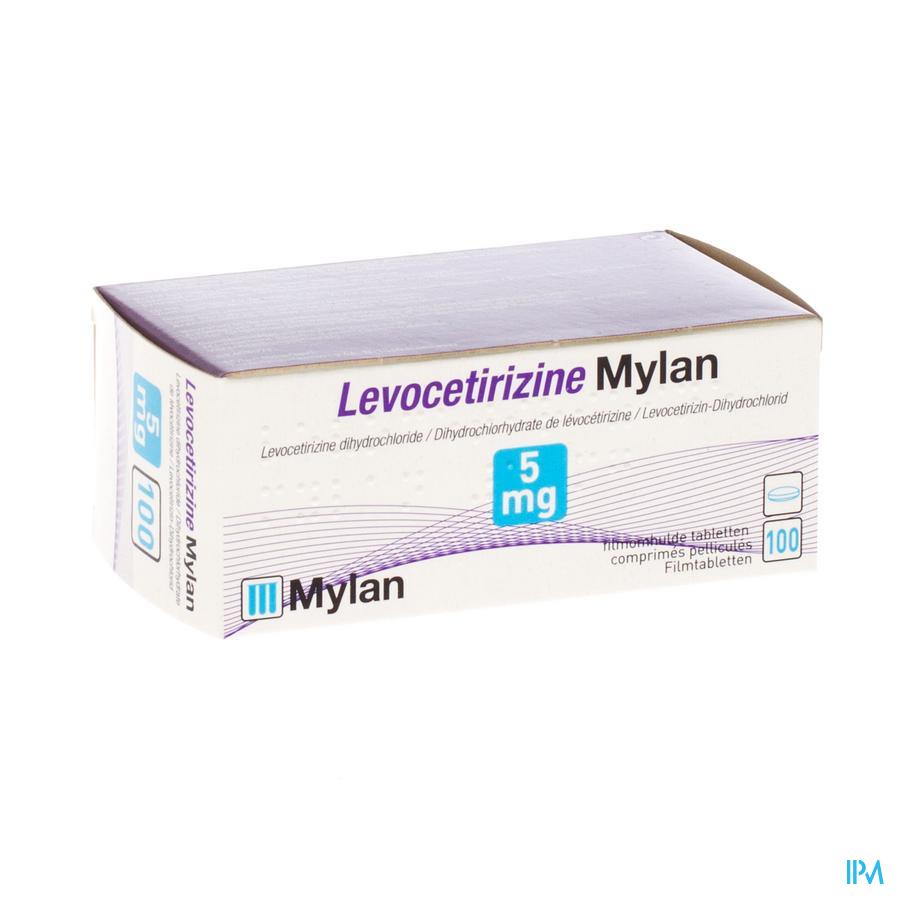 Levocetirizine Mylan 5 mg Filmomh Tabl 100