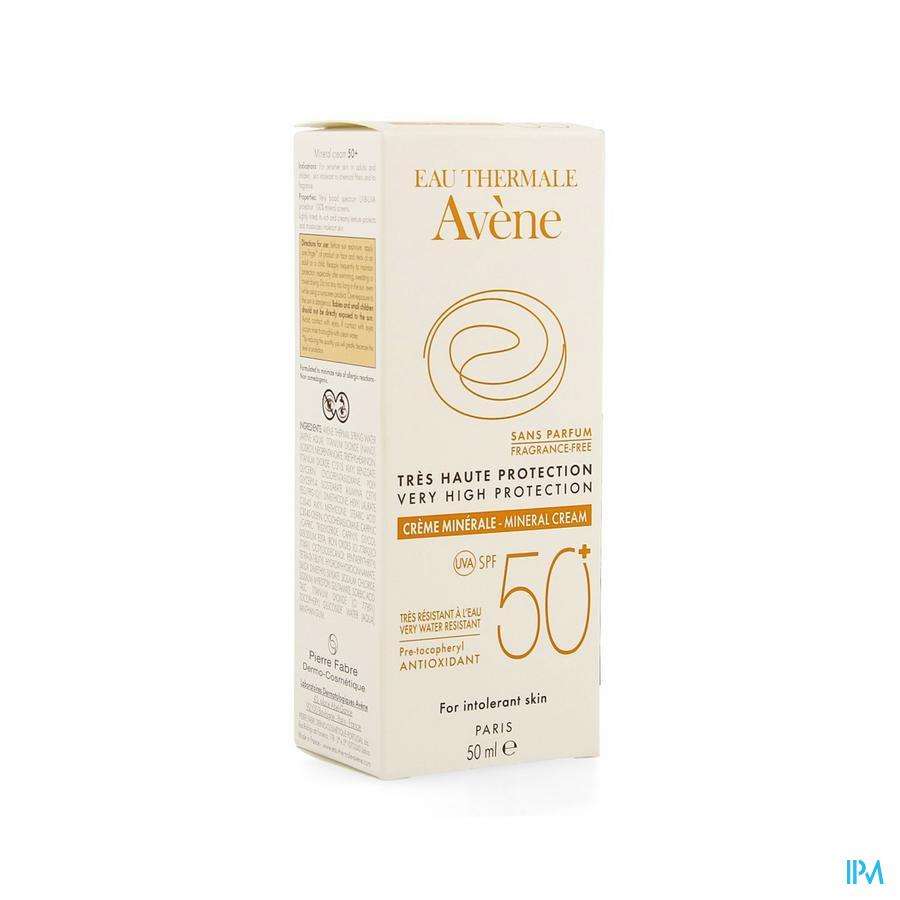 Avene Sol Creme Minerale T.haute Prot.ip50+ 50ml