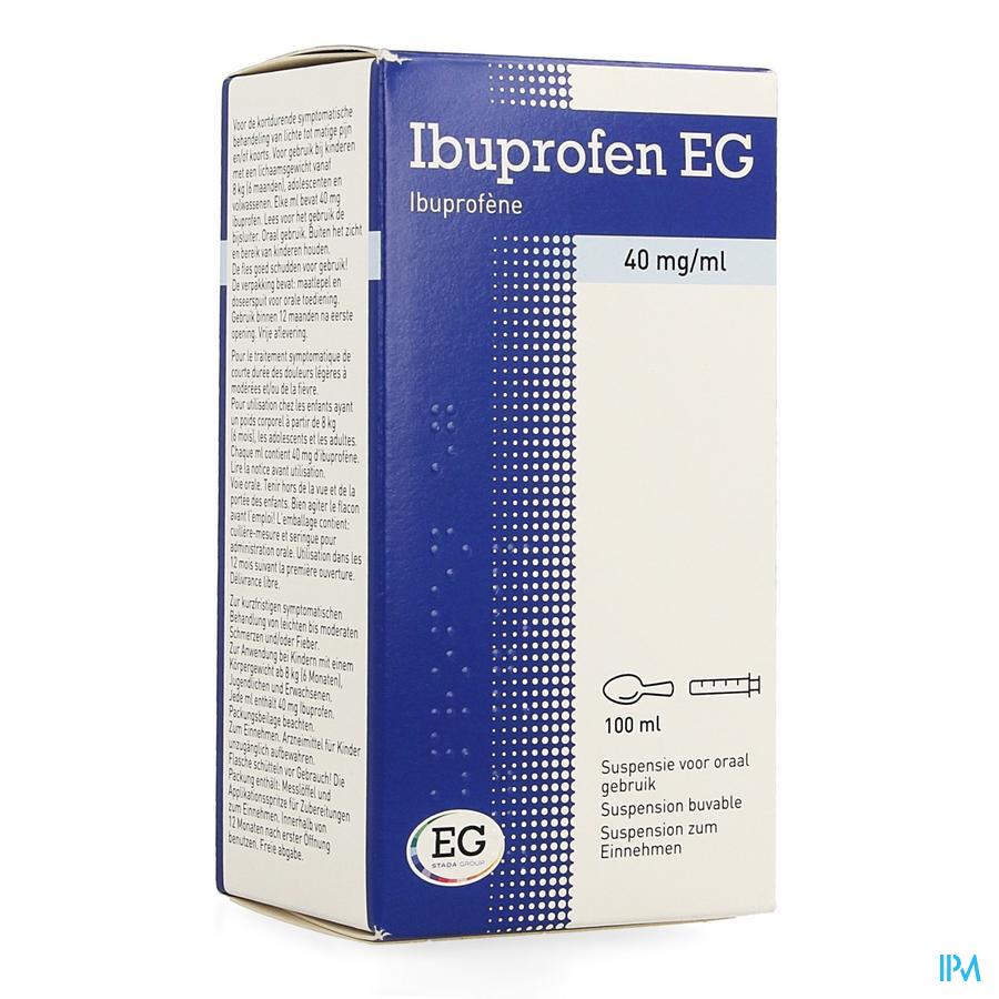 Ibuprofen Eg 40mg/ml Susp Buvable 100ml
