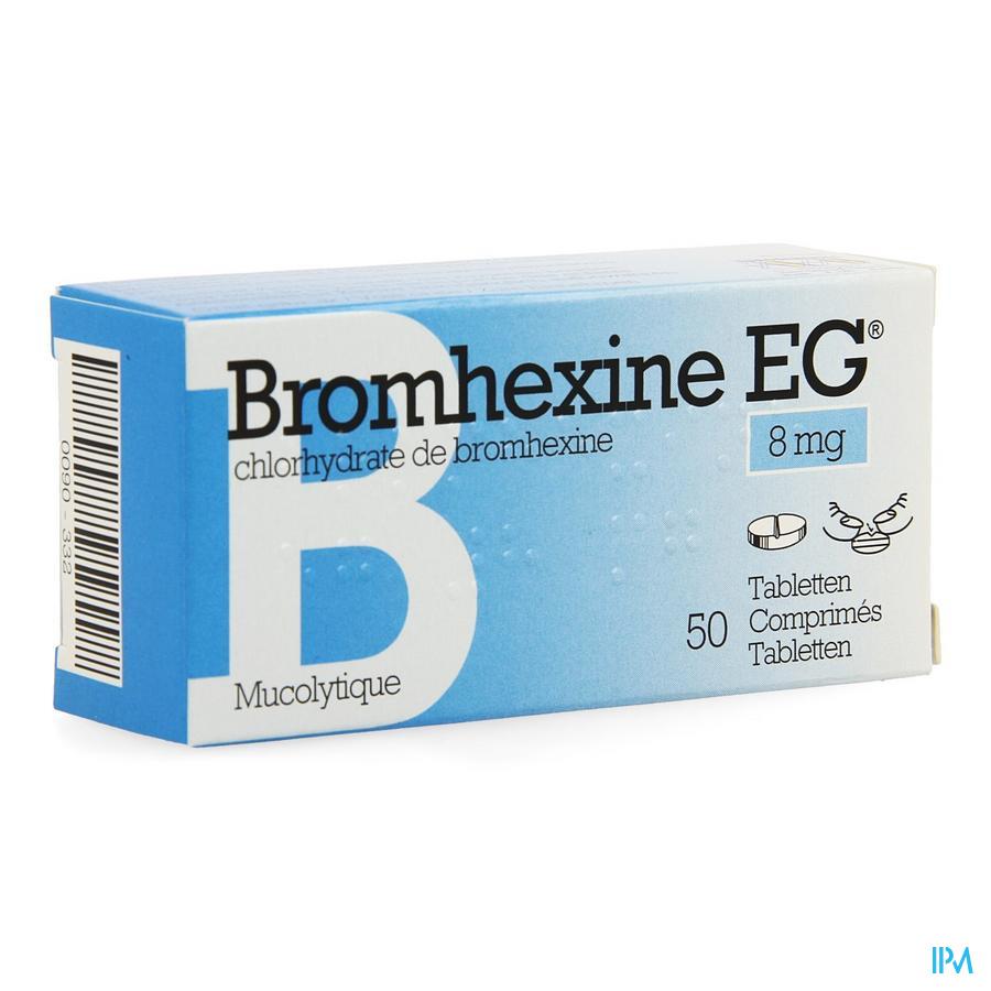 Bromhexine EG Tabletten 50 X 8 mg  -  EG